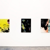 Installation view<Br> Each: 40 x 28.5 inches, silk velvet and dye on wood panel