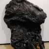 <em> Untitled</em>, 2011<br> Three Timberland boots, tar, trash bags, and chicken wire<br> Dimensions variable <br>